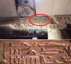 "Hieroglyphs of Abydos - ""I hate to be a buzzkill, but this has been proven several times over that the ""unusual"" images in the heiroglyphics are actually caused by someone carving one message over another. They don't depict helicopters, etc."