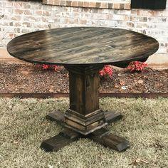 diy round pedestal dining table by ryobi nation member smashingdiy this design is gorgeous