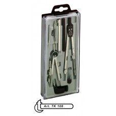 Körző készlet törhető szárú 8 darabos ( 2 körzővel ) TK108 - 990Ft