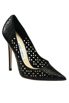 Perforated Jimmy Choo heels make a sophisticated statement