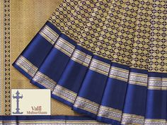 The bride's blush is best set off against a gorgeous Kanakavalli Kanjivaram. We recommend this stunning six yards of silk in a splendid shade of blue for any bride who wants exude a regal aura. Adorned with intricate gold zari work, this sari is sure to make you look like a queen on your special day.