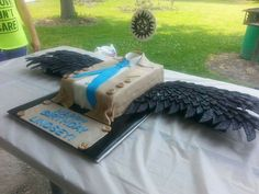 an gelangel of the lord, birthday cake, cascake, castiel, misha collins, supernatural