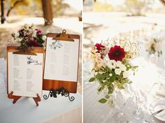 Ahah! Clipboards--simpler and requiring less effort than chalkboards. Photography by http://matthewmorgan.net/blog/