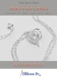 How to style April's birthstone Diamond! - Just Geeking By. Birthstone Series - This month we're shining bright as the birthstone series looks at Diamond, April's birthstone. Browse the crystal and the shades of grey and dusty pink.