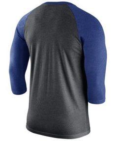 Nike Men's Los Angeles Dodgers Triblend Three-Quarter Raglan T-Shirt - Black XXL
