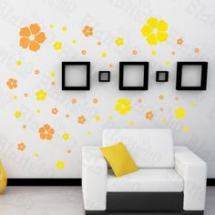 Floral Excitment Decorative Wall Stickers Appliques Decals Wall Decor Home Decor * This is an Amazon Affiliate link. Details can be found by clicking on the image.