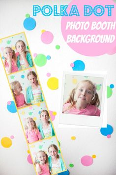 DIY polka dot photo booth background for any type of party!  Capturing-Joy.com