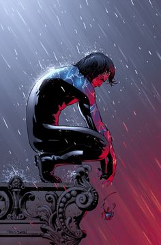 Nightwing in the Rain - Tony S. Daniel