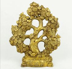 20% off Brass Money Coins Tree for Wealth Feng Shui by OrientArts