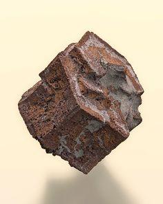 Cuivre pseudomorphosant Aragonite.  Corocoro, Pacajes Province, La Paz Department, Bolivia Taille=2.5 x 2.3 x 2 cm