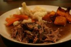 Lamb shoulder joint cooked in the slow cooker with red wine and lamb stock to make a delicious gravy. I have served this with roast pumpkin, cauliflower and carrots but any veg would be nice and some Yorkshire puds. Roast Beef Recipes, Lamb Recipes, Slow Cooker Recipes, Cooking Recipes, Sauce Recipes, Slow Cooker Pork Shoulder, Pork Shoulder Recipes, Lamb Shoulder, Shoulder Joint