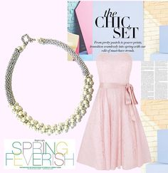 Glitzy Pearl Necklace Perfect for A Pink Lace Dress