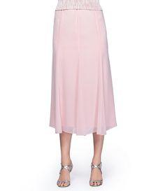 Blush:Alex Evenings Chiffon Skirt