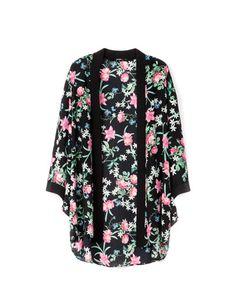 Bershka Polska - Kimono Bershka z kimonowymi rękawami
