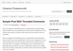 Prose version 1.5 is a fully mobile responsive Genesis child theme for WordPress.