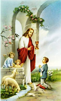 Boy's First Communion Prayer Card Catholic Gifts, Catholic Prayers, Communion Prayer, First Communion Decorations, Boys First Communion, Jesus Photo, Blessed Sunday, Holy Quotes, Mary And Jesus