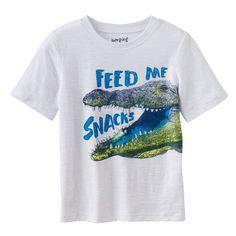 Boys 4-10 Jumping Beans® Patterned Slubbed Tee, Boy's, Size: 8, Turquoise/Blue (Turq/Aqua)