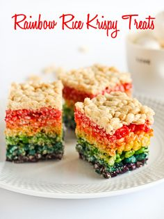7 Easy Rainbow Snacks for Kids - Blissfully Domestic    This is so cute and so affordable!