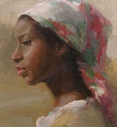 Painting Woman Face Portraits Oil On Canvas 46 Trendy Ideas African American Art, African Art, Black Women Art, Art Women, Renaissance Art, Figure Painting, Painting Art, Paintings, Art Plastique