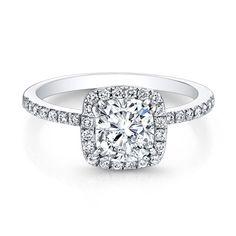 Natalie K for #Forevermark cushion-cut #diamond engagement ring