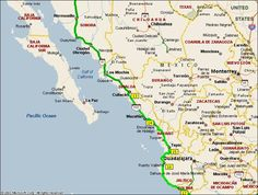 Mexican Riviera Map   Northern Mexico to the Mexican Riviera
