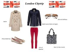 Alles für den Citytrip nach London! Farbenfrohe Skinny Jeans & legere Bluse, bequeme Ballerinas, Trenchcoat für Regentage, coole Sonnenbrille und eine geräumige Tasche für Souvenirs! #citytrip  #look  #trenchcoat  #london  www.fashion.engelhornmode.de