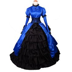 medieval halloween costume for women Victorian Blue Southern Belle Ball Gown princess Gothic Lolita special occasion dresses