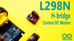 Arduino Tutorial 28: DC motor control and PWM signal with L298N H-bridge