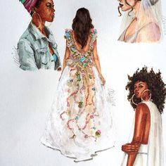 Bridal gown by @matildecano 🌸🌸🌸♥️#bridaldesigner #bridalillustration #bridaldress #weddingdress #bbfw16 #fashionillustration #copicmarkers #matildecano #lookillustrated
