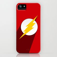SuperHero long shadow: The Flash iPhone & iPod Case