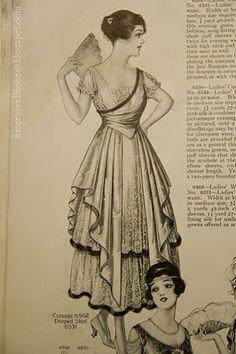 The Girl with the Star-Spangled Heart: Edwardian Lovelies: 1916 1900s Fashion, Edwardian Fashion, Vintage Fashion, Edwardian Era, French Fashion, Vintage Dresses, Vintage Outfits, Vintage Hats, Vintage Clothing
