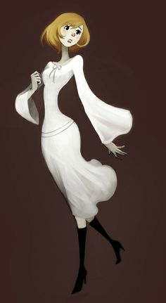 Character Design by Caroline Hirbec, via Behance