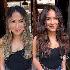 Surprising Summer Hair Color Trends You're About To See Everywhere Everything you need to know about these trending looks.Everything you need to know about these trending looks. Brunette Hair Color With Highlights, Dark Brunette Hair, Brunette Color, Brown Blonde Hair, Hair Highlights, Blonde To Brunette Before And After, Rich Brown Hair, Summer Brunette, Summer Hair Color For Brunettes