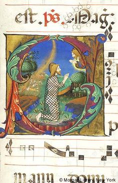 Job: communicating with God and Job   Antiphonary   Italy, Milan   ca. 1470-1495   The Morgan Library & Museum