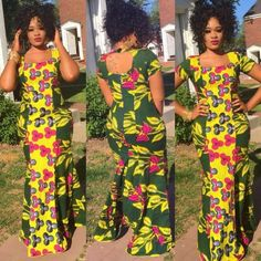 Nigerian fashion has grown and there's no doubt that the Ankara fabric is here to stay as it represents Africa for our bold, diverse culture and lifestyle. The new fashion trends… Long Ankara Dresses, African Print Dresses, African Print Fashion, Africa Fashion, African Dress, African Wear, Long Skirts, African Beauty, African Women