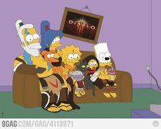 Simpsons waiting for Diablo 3