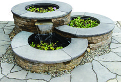 Above-ground pond and waterfall kit. Manufacturer EP Henry also suggests use for fountain, outdoor lighting or rainwater harvesting.