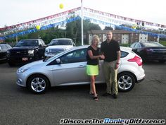 Andrea K. Discovered The Donley Difference at Donley Ford Lincoln of Mount Vernon with her new 2014 Ford Focus! Congrats, Andrea!