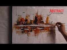 AMAZING ABSTRACT PAINTING VIDEO LESSON - at the edge - YouTube
