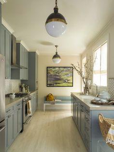Kitchens ~ Small & Galley | Pinterest - Apartment Galley Kitchen Photos