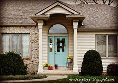 pretty aqua exterior door