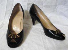 Vintage Bruno Magli Black Leather Peep Toe Pumps Sz 9.5AAAA http://www.ebay.com/itm/370954471052?ssPageName=STRK:MESELX:IT&_trksid=p3984.m1555.l2649