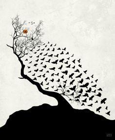 {Art} 'Snow Owl Camouflage' by Stefania Congia #art #illustration