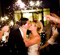 love sparkler idea for walking back down isle or for into reception