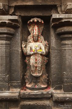Vishnu image in Hindu temple. Arunachaleswar Temple,