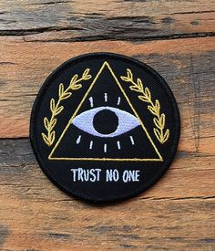 Trust No One Patch   crywolfclothing #patches