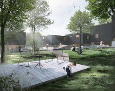 Friis & Moltke diseñan complejo habitacional bajo el concepto del bosque escandinavo