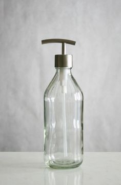 Amazon Com Vintage Inspired Glass Soap Dispenser W Modern Stainless Pump To