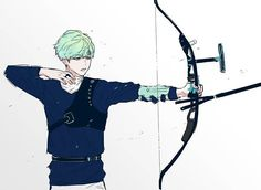 Love this fanart so much  Mint Yoongi in Archery   Pto-  #bts #minyoongi #suga…