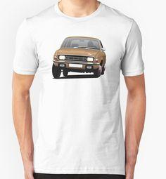 Austin Allegro illustration brown by knappidesign  #austinallegro #austin #leyland #british #uk #automobile #car #tshirt #print #illtustration #redbubble #brown